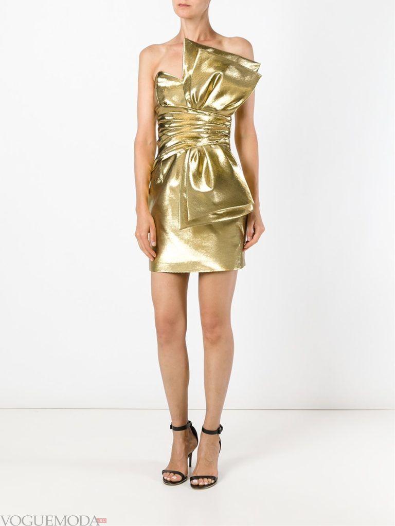 золотое платье мини для встречи года крысы