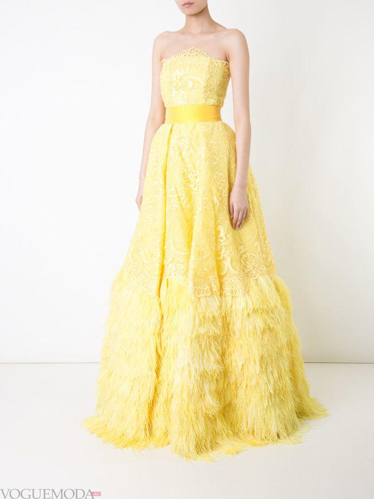 желтое платье для встречи года крысы с поясом