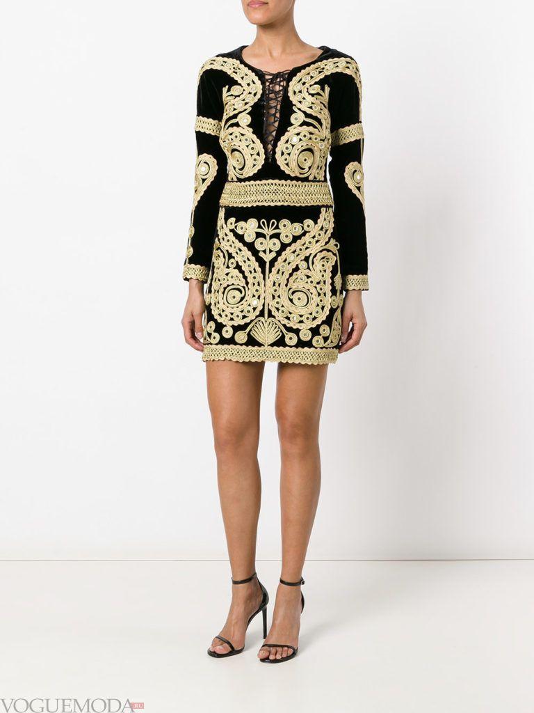 золотое платье с рисунком для встречи года крысы
