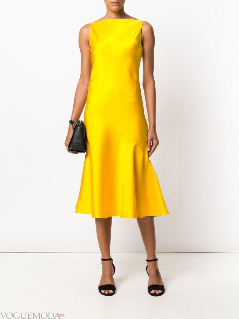 желтое платье для встречи года крысы шелковое