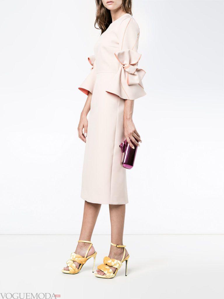 розовое платье с декором для встречи года крысы