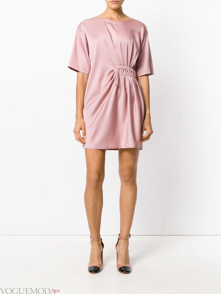розовое платье короткое для встречи года крысы