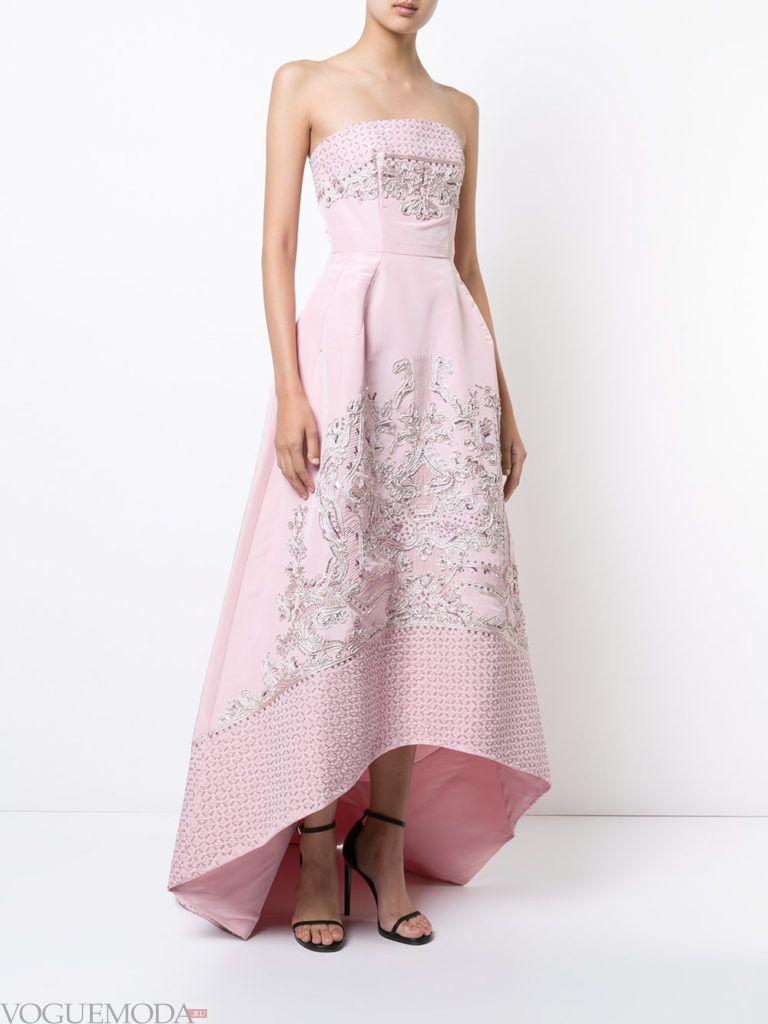 розовое платье длинное для встречи года крысы