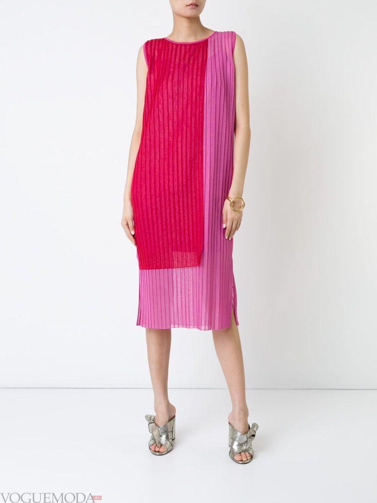 розовое платье плиссе для встречи года крысы