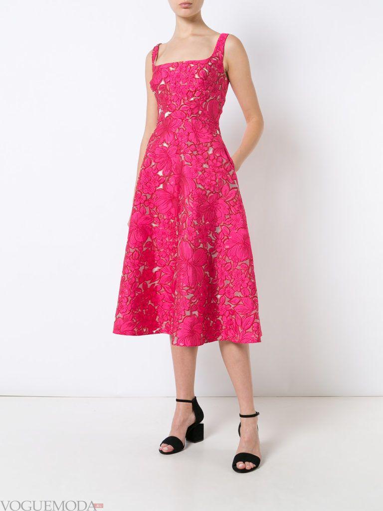 розовое платье клешное для встречи года крысы