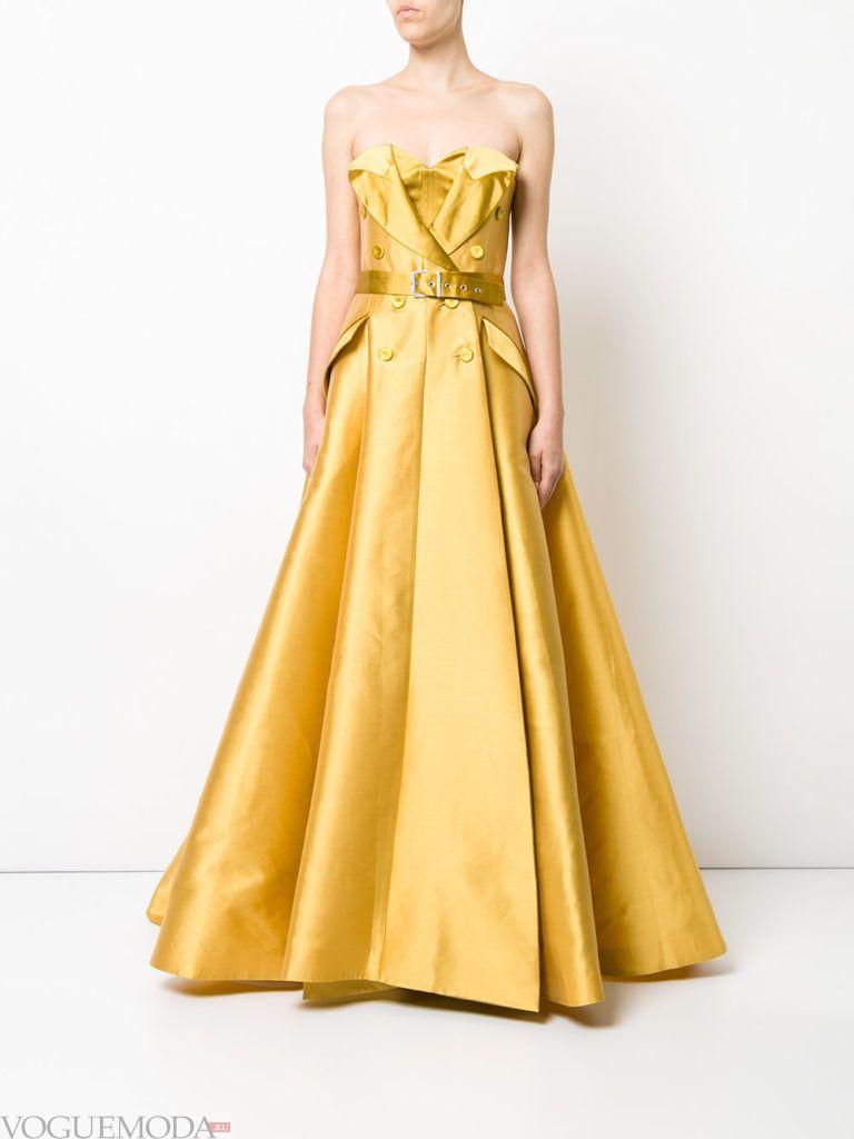 желтое платье для встречи года крысы длинное