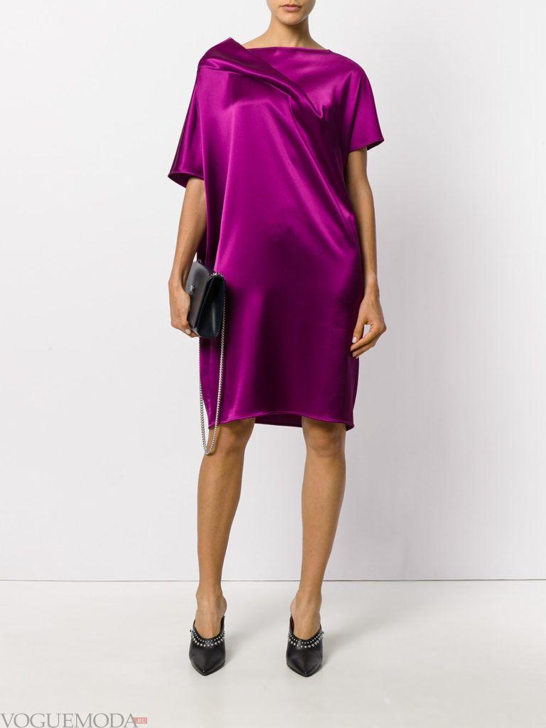 пурпурное платье шелковое для встречи года крысы