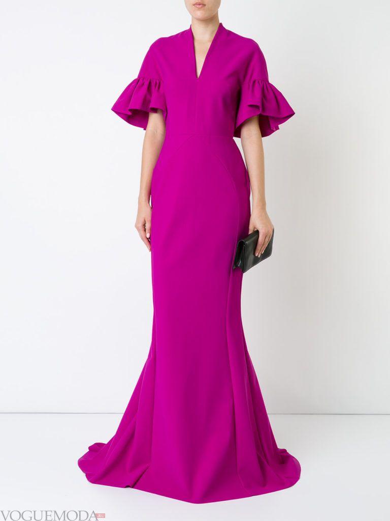 пурпурное платье рыбка для встречи года крысы