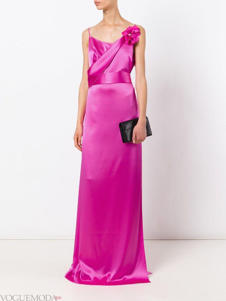 пурпурное платье длинное для встречи года крысы