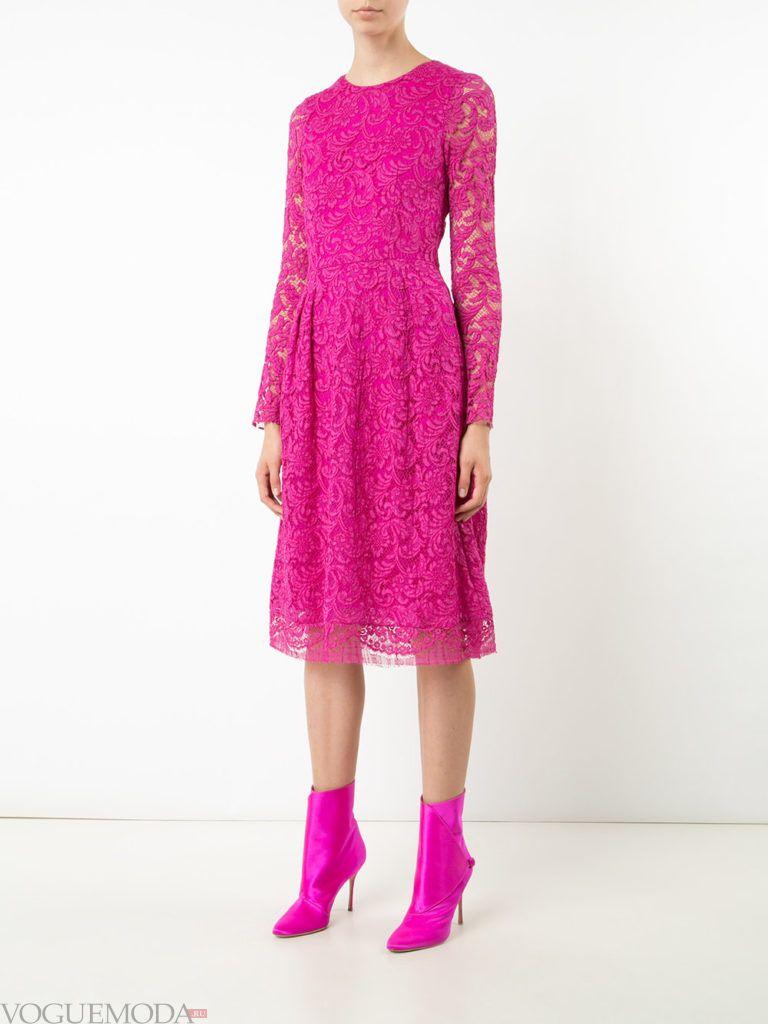 пурпурное платье кружевное для встречи года крысы