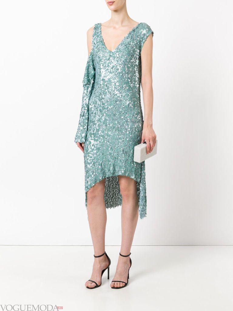 зеленое платье блестящее для встречи года крысы
