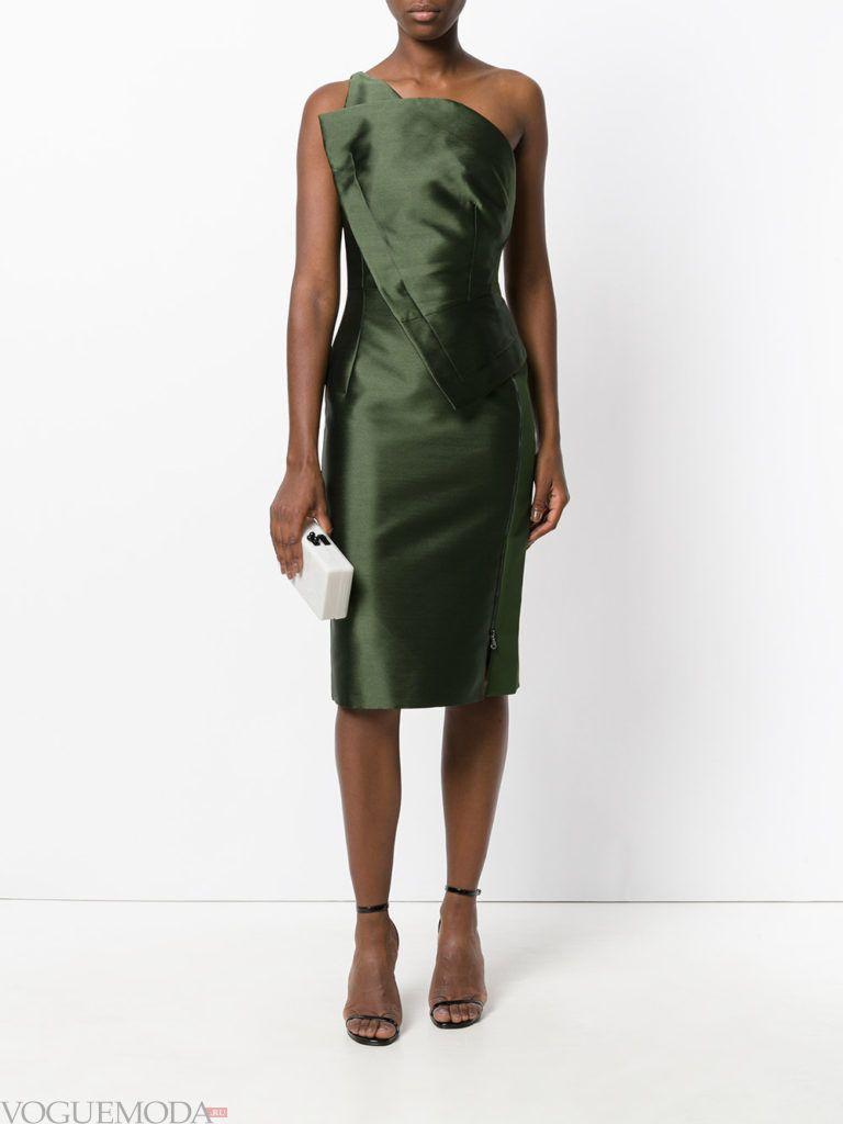 зеленое платье футляр для встречи года крысы