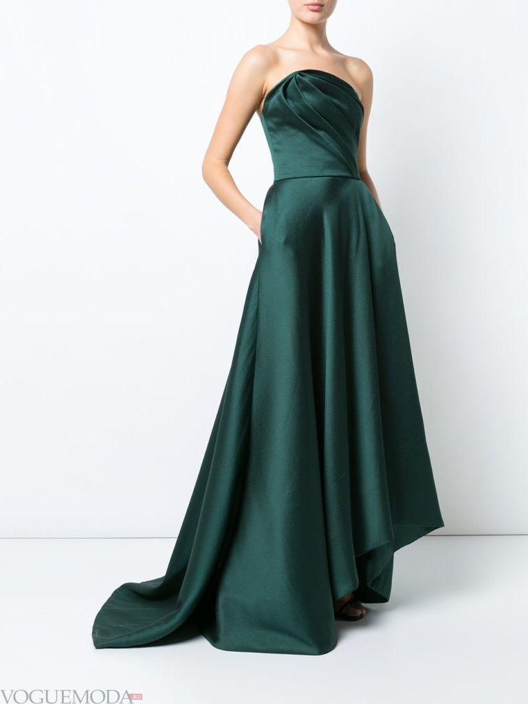зеленое платье шелковое для встречи года крысы