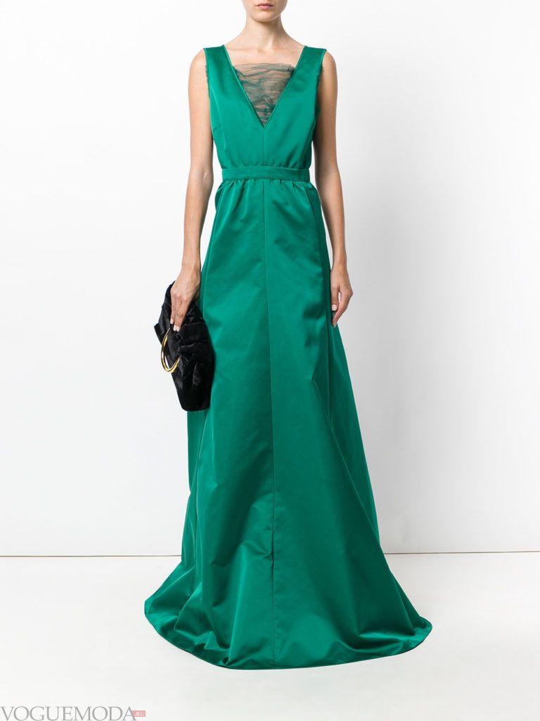 зеленое платье длинное для встречи года крысы