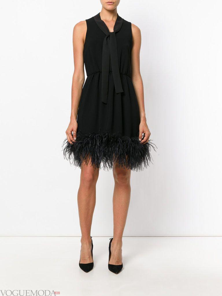 черное платье короткое для встречи года крысы
