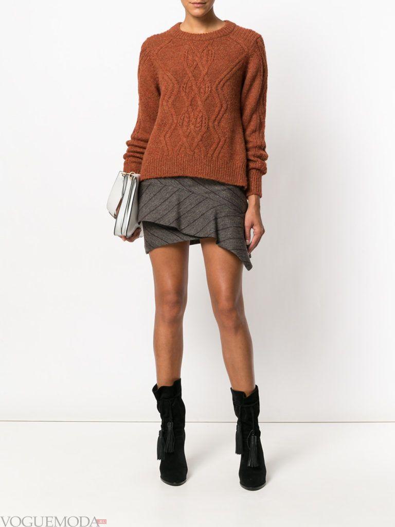 асимметричная юбка короткая