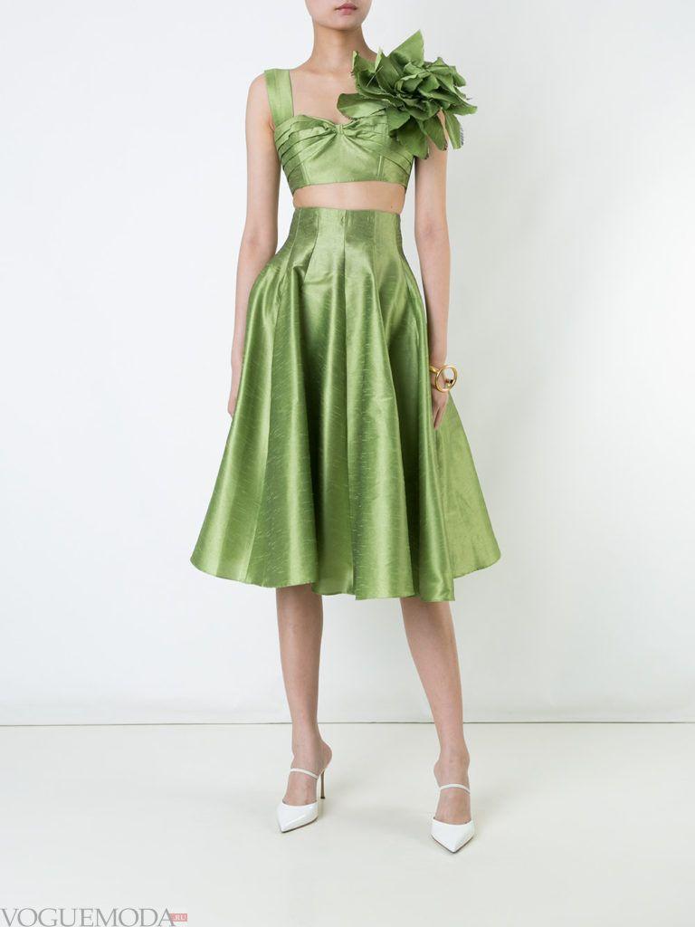юбка солнце зеленая