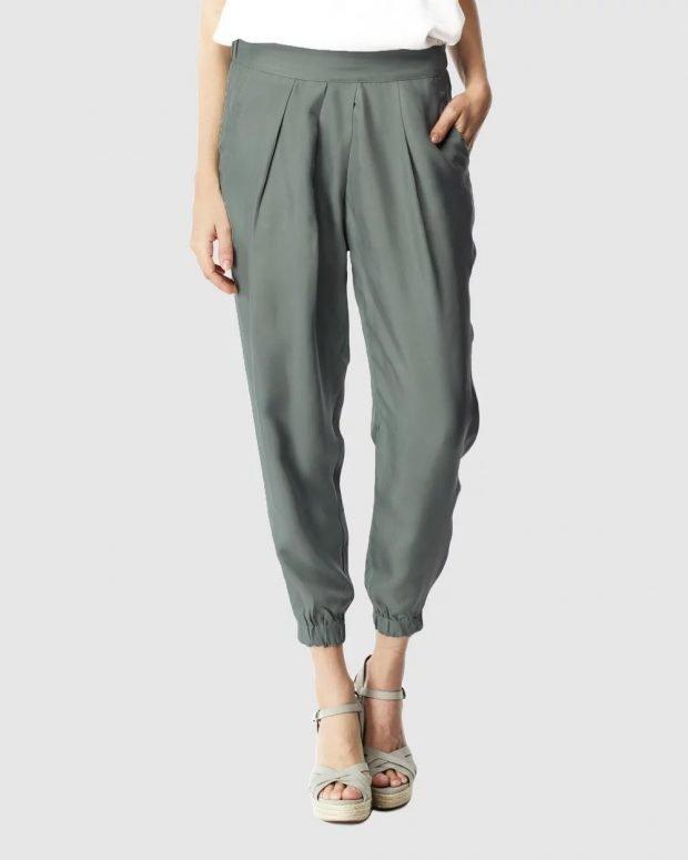 женские брюки 2019 2020: пепельные узкие
