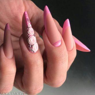 модный френч розовый