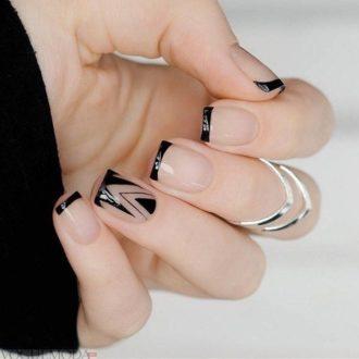 модный френч черный