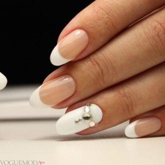 свадебные ногти с декором