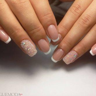 свадебные ногти с рисунком