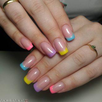 френч разноцветный