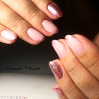 френч миллениум розовый с рисунком