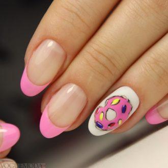 модный френч с рисунком розовый