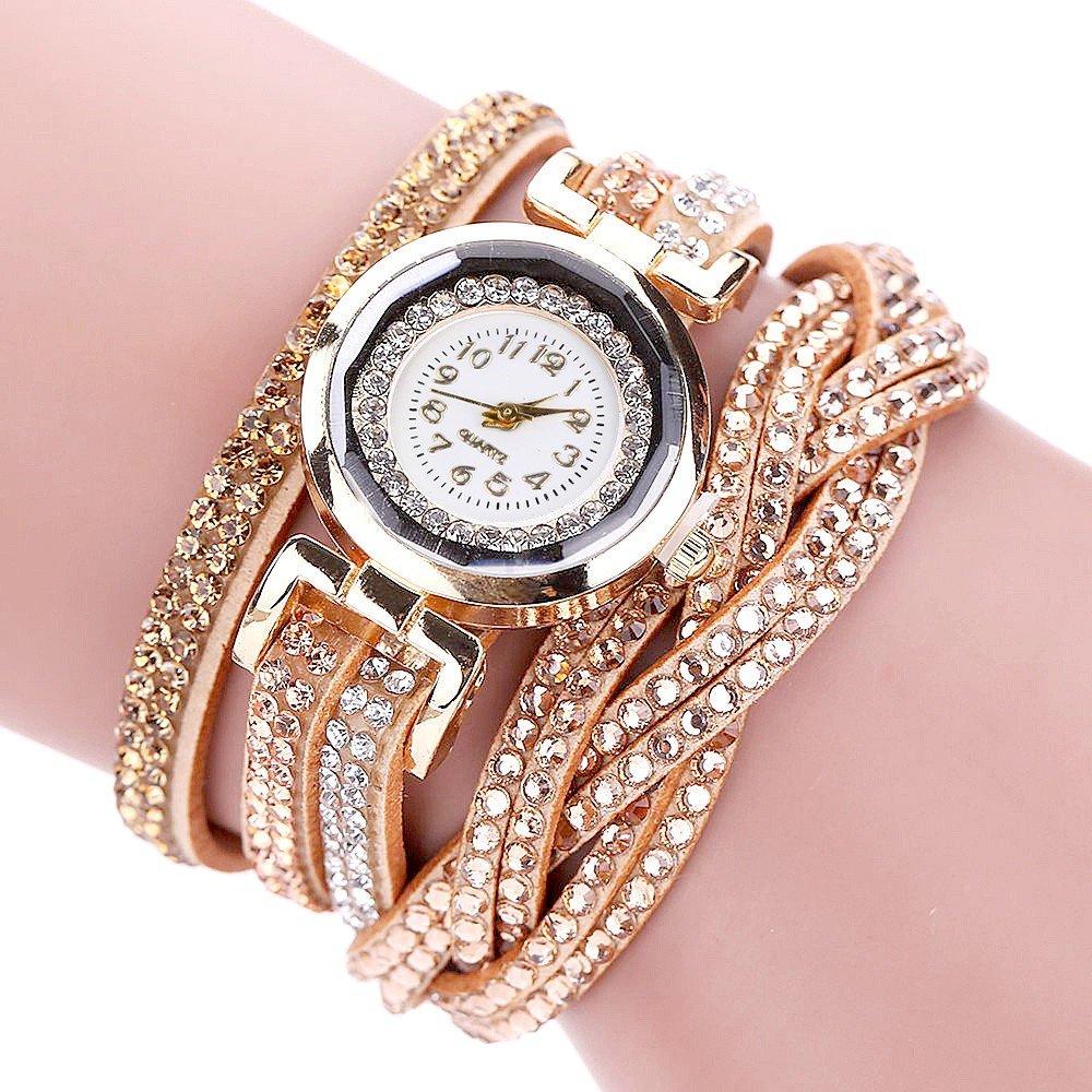 женские часы с длинным ремешком золотые