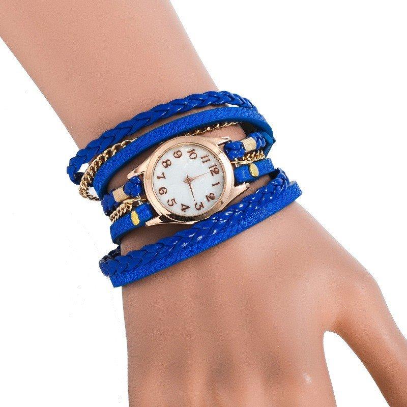 женские часы с длинным ремешком яркие