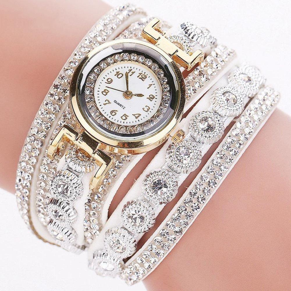 женские часы с длинным ремешком светлые
