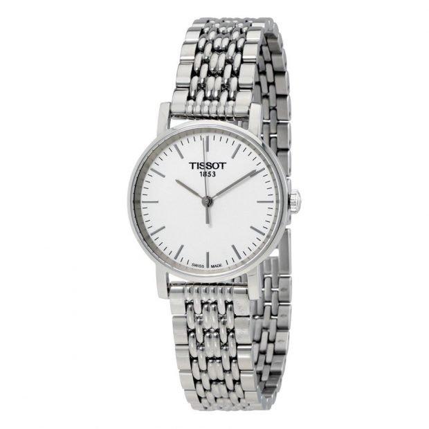 классические женские часы серебряные