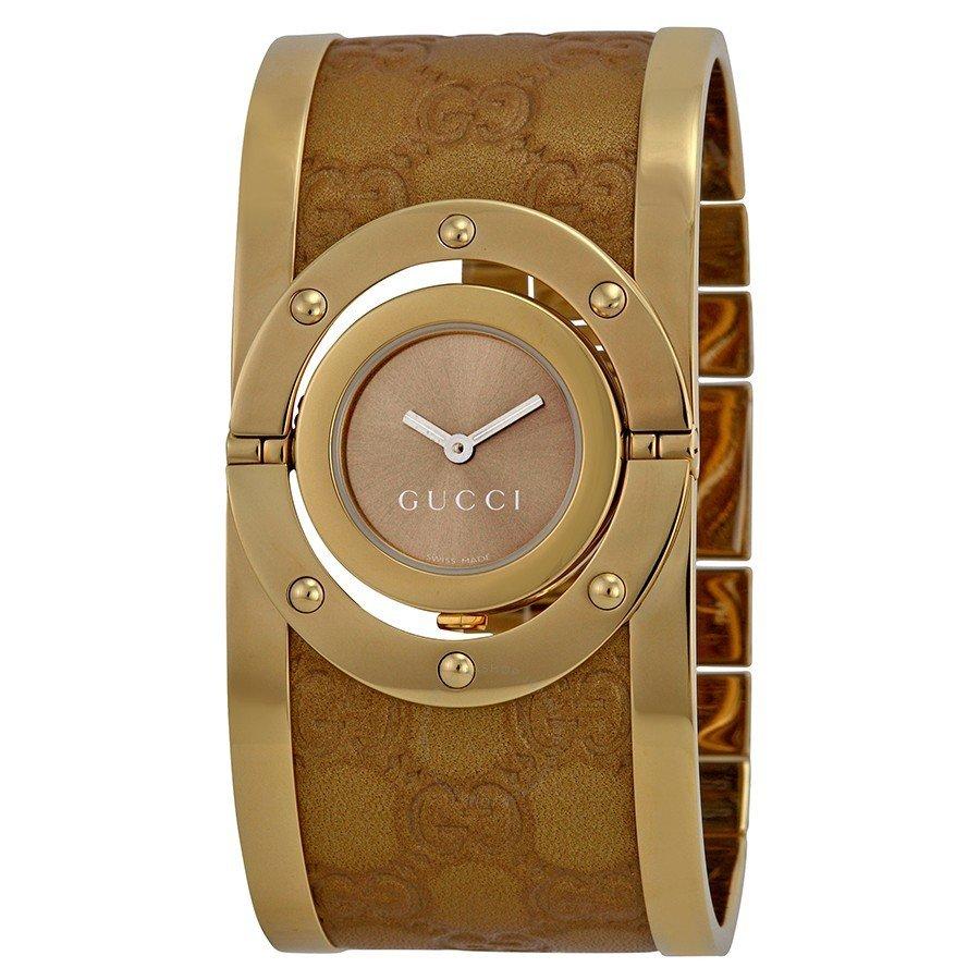женские часы с модным широким ремешком