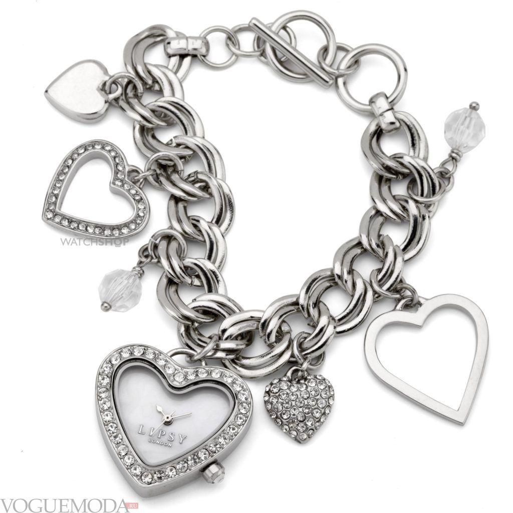 женские часы с модным ремешком-браслетом