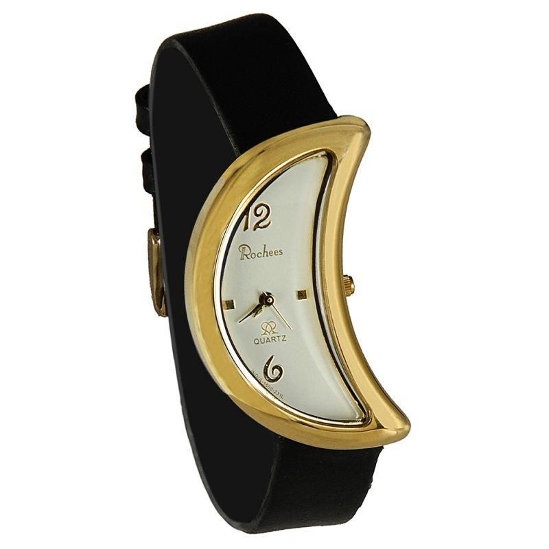 часы с необычной формой циферблата черные