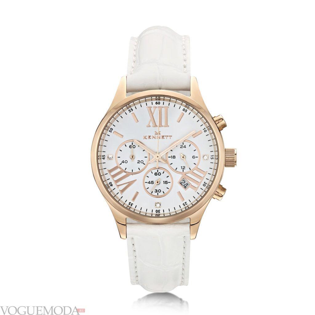 минималистичные женские часы светлые