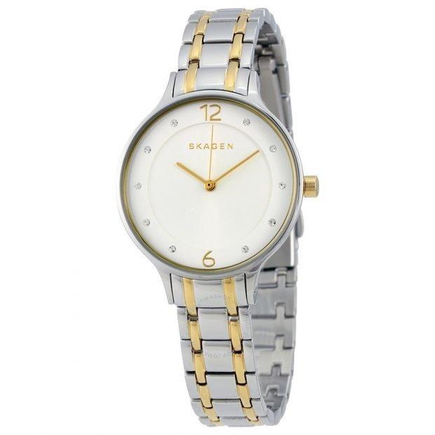 женские часы: в стиле «унисекс» двухцветные