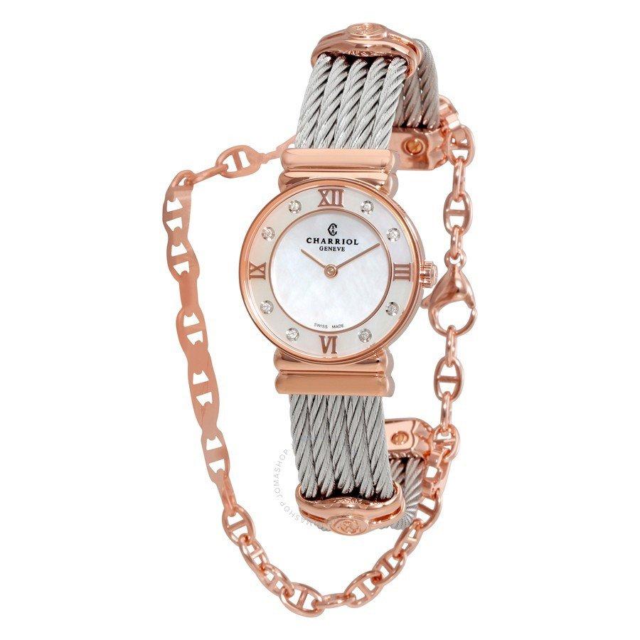 женские двухцветные часы