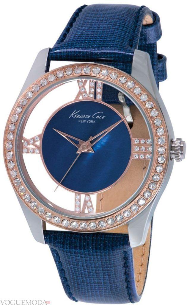 наручные женские часы синие