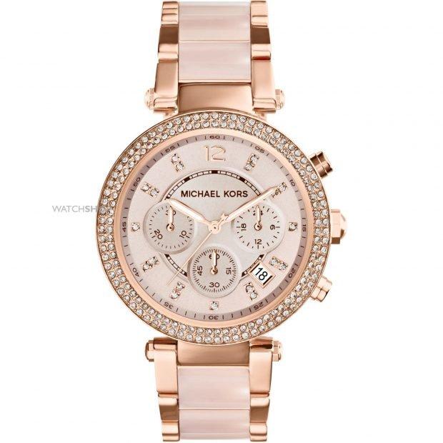 женские часы с миниатюрным циферблатом светлые