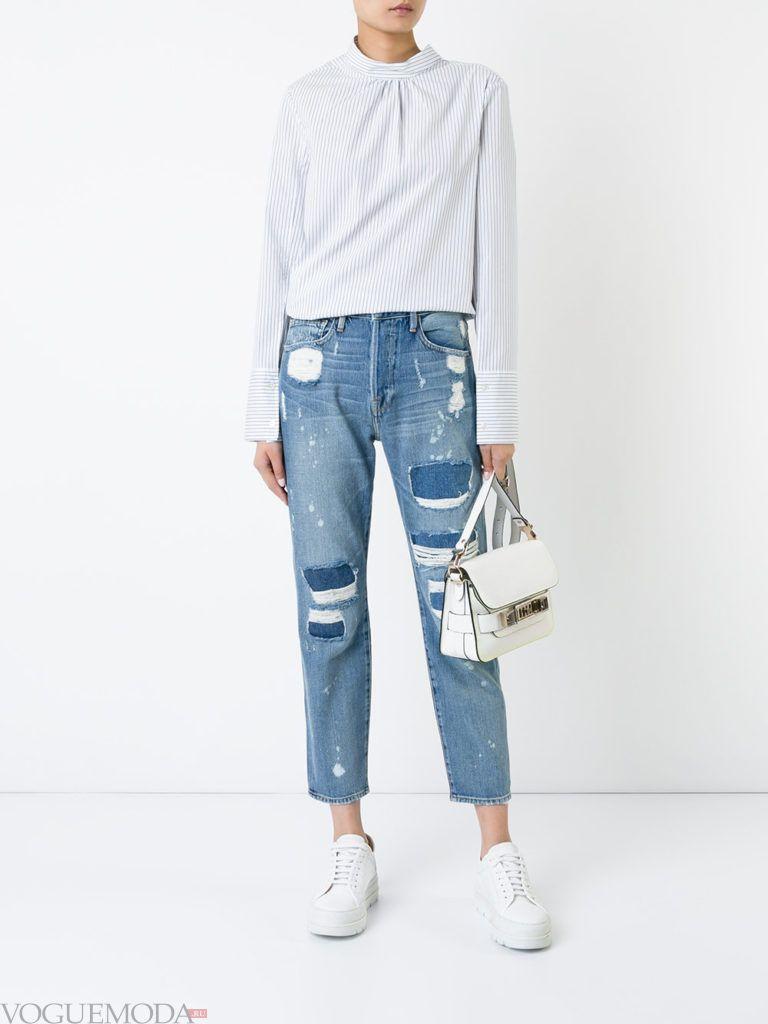 джинсы в стиле «Гранж» бойфренды