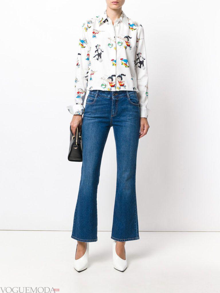 джинсы в ретро стиле синие