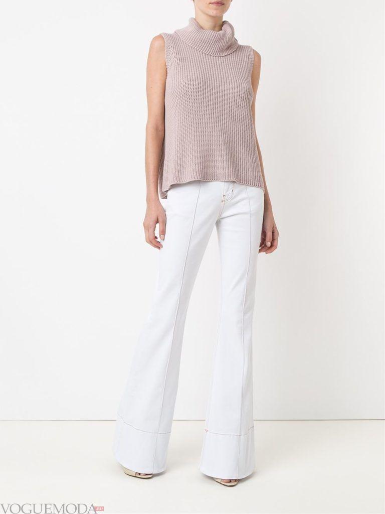 джинсы в ретро стиле белые