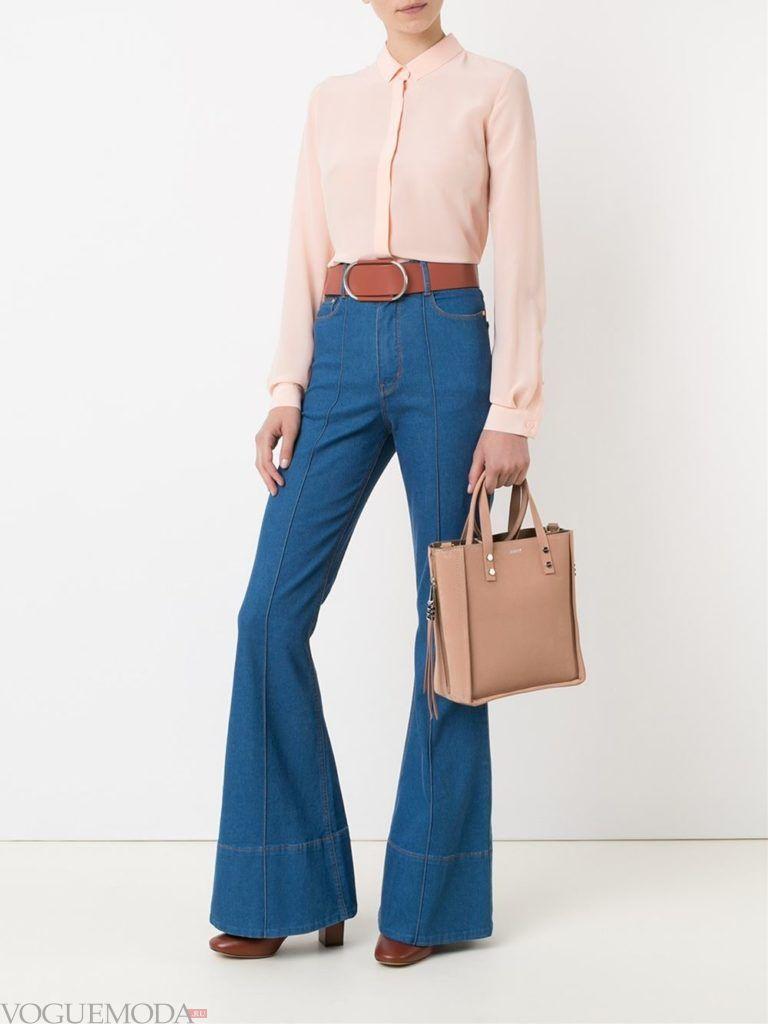 джинсы в ретро стиле с поясом