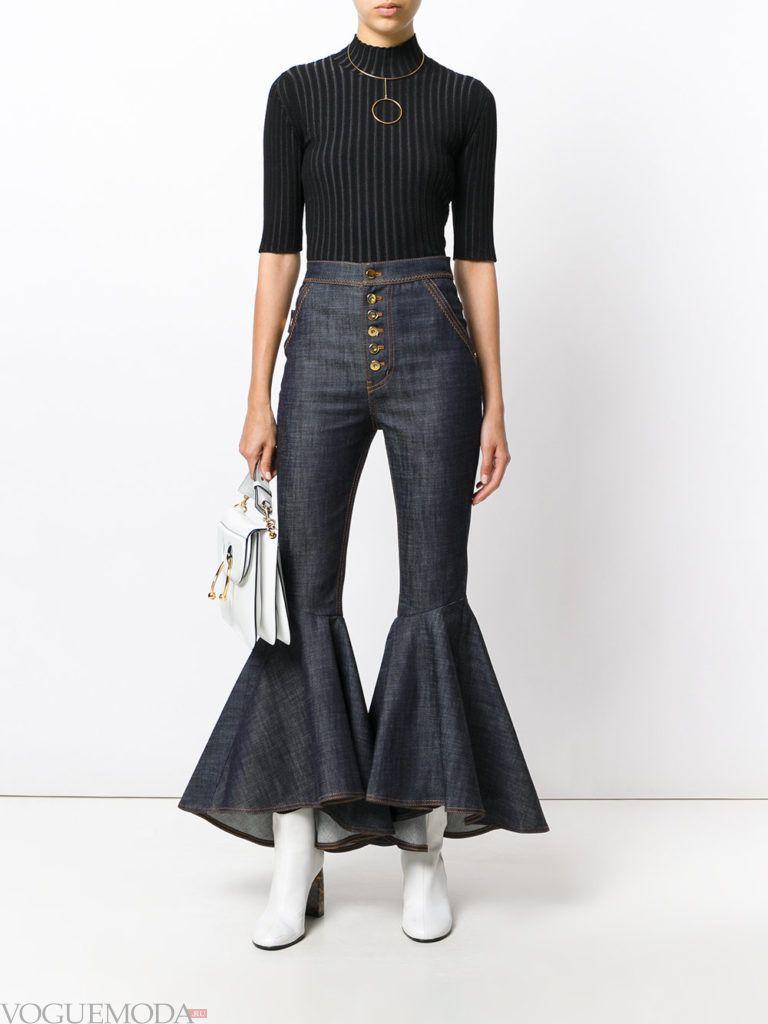 женские джинсы «Клеш» модные