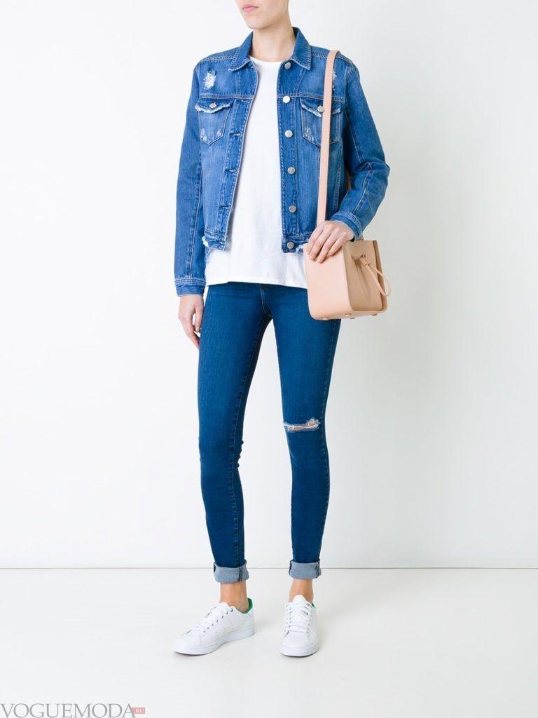 узкие женские джинсы синие
