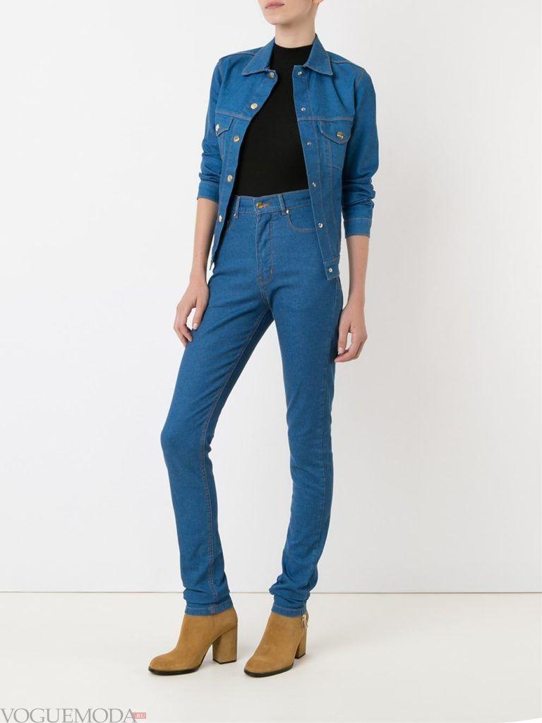 узкие женские джинсы высокие