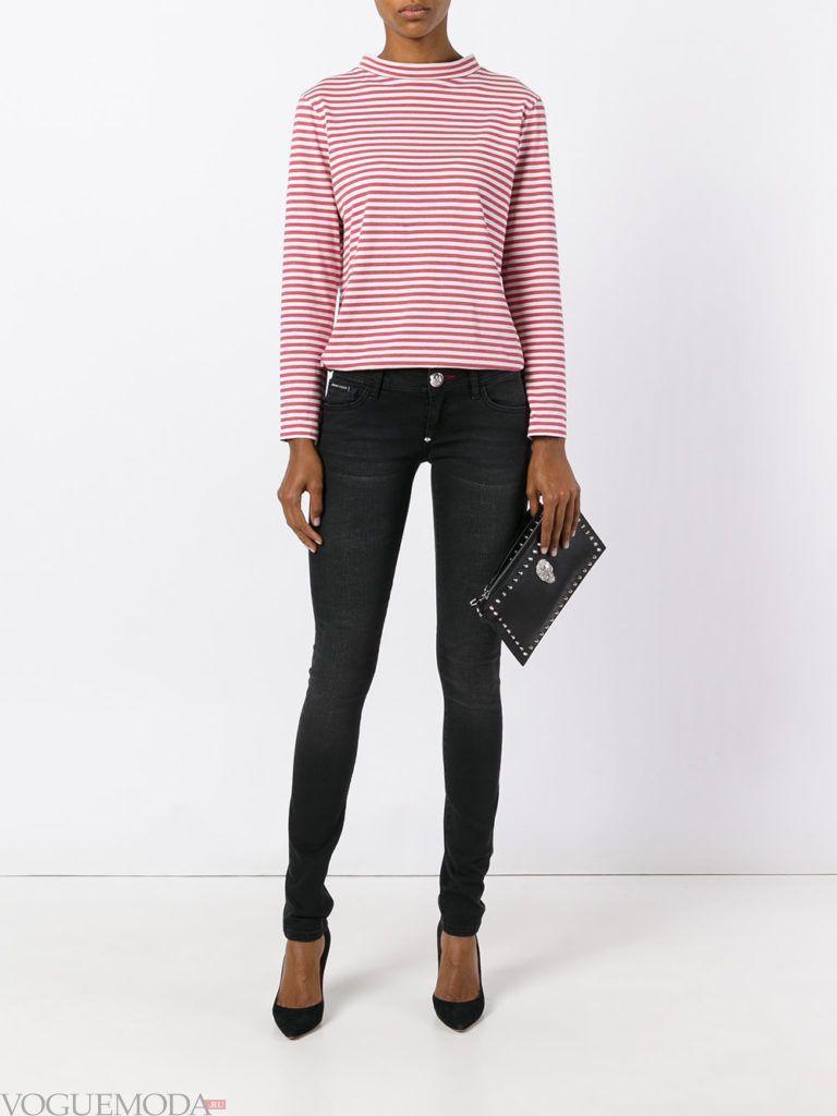 узкие женские джинсы темные
