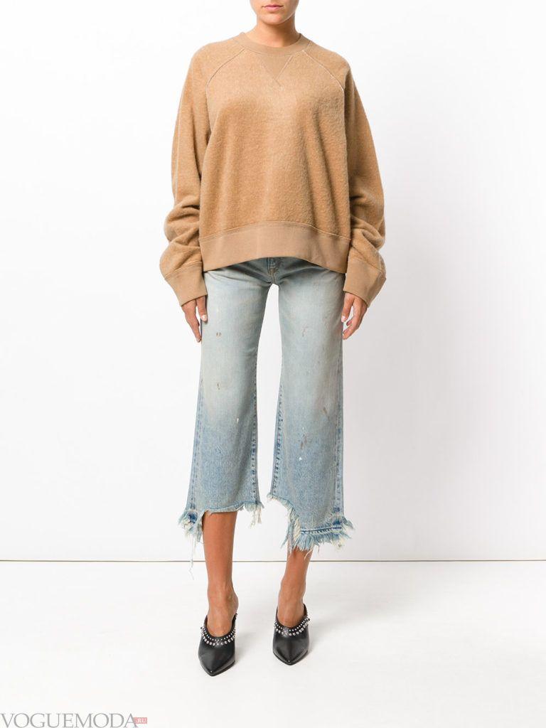 укороченные женские джинсы светлые